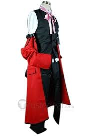 Red Coat Halloween Costume Black Butler Grell Sutcliff Red Coat Cosplay Costume