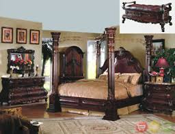 King Headboard Cherry King Cherry Poster Luxury Canopy Bed W Leather Headboard Master