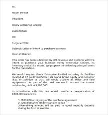 letter of intent to purchase business template best business