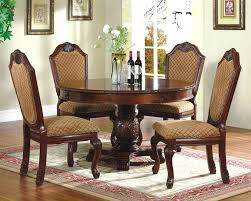 Round Dining Room Tables Cherry Finish Modern Round Dining Table With Matching Side Chairs