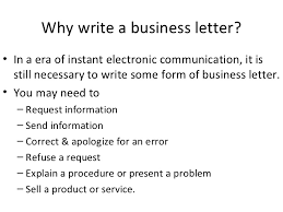 Business Letter Language writing business letters