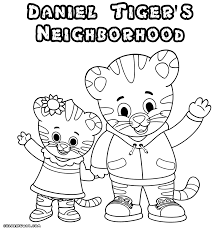 daniel tiger coloring pages coloring pages to download and print