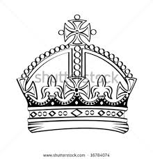 classic black king crown tattoo stencil crown tattoo stencils
