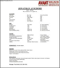 acting resume sample no experience resume sample resume examples no experience resume resume example