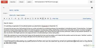 email cover letter attachment how to email your cover letter