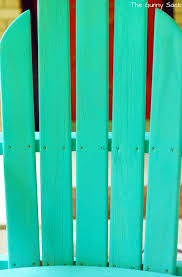 How To Paint An Adirondack Chair Adirondack Chair Makeover Tutorial