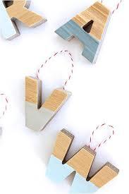 diy alphabet ornaments