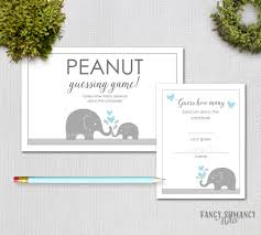 baby shower guessing baby shower guessing guess how many peanuts blue