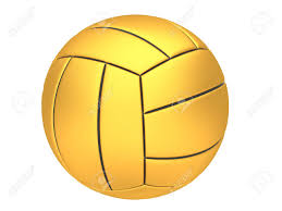 gold volleyball on a white background stock photo picture and