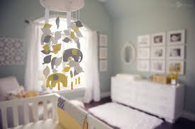 Gray And Yellow Nursery Decor Gray And Yellow Elephant Mobile Felt Baby Sohnrey Pinterest