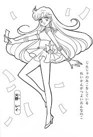 sailor moon series coloring pages sailor mars colors