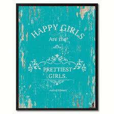 audrey hepburn home decor happy girls are the pretties audrey hepburn sayingcanvas print