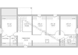 plan maison plain pied 5 chambres plan de maison gratuit 4 plaisant plan de maison plain pied 4