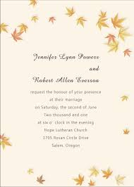 fall wedding invitations ivory and yellow maple leaves fall affordable wedding invitation
