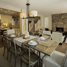 rustic farmhouse dining table sets new lighting warm and cozy