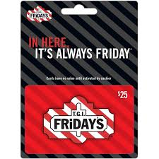 dining gift cards tgi fridays gift card entertainment dining gifts food