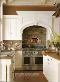 kitchen design love the built in brick wood fire oven and the