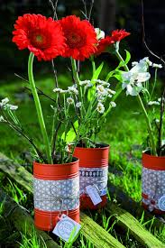 Flower Vases Centerpieces 20 Tin Can Craft Ideas Flower Vases And Plant Pots