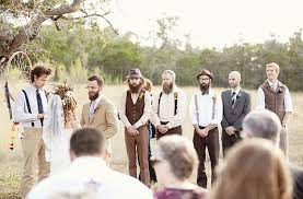 bohemian wedding in on thanksgiving green