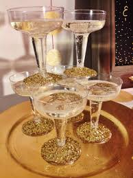 vintage champagne glasses vintage champagne glasses being used as table decoration naff idea