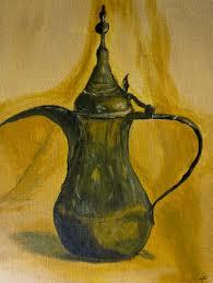 modern kitchen art paintings copper tall kettle study still life acrylics art original art