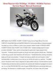 bmw reprom k2x r1200gs r1200rt r1200st factor by toby schane issuu