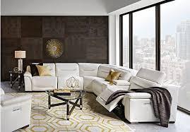 Sofia Vergara Gallia White Leather  Pc Power Plus Reclining - White leather living room set