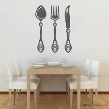 kitchen wall decal spoon knife fork wall decal dining