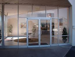 glass wall door systems double glass front doors with white alumunium frames and stainless