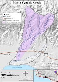 Solvang Map Coastal Watersheds U003e Watersheds U003e South Coast U003e Maria Ygnacio Creek