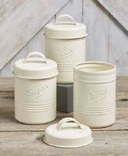 red canister set 3 pc kitchen counter storage coffee sugar tea