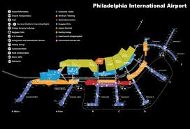 Map Of Airports Usa by Philadelphia International Airport Map