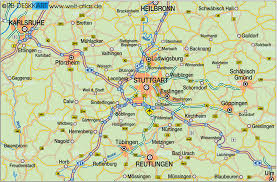 Karlsruhe Germany Map by Map Of Stuttgart Environment Germany Baden Wuerttemberg Map