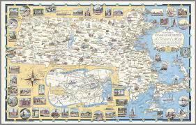 Massachusetts State Map by Historic Massachusetts A Travel Map To Help You Feel At Home In