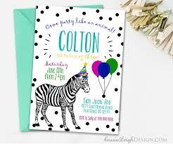 art birthday invitations party animal birthday invitations colorful zoo birthday