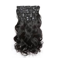 hair clip ins wleec beauty grade 6a wave clip