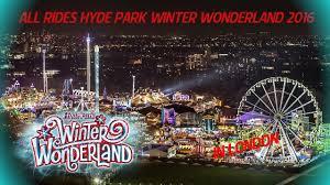 rides attractielijst hyde park winter wonderand 2016 2016