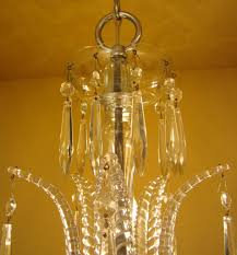 Cristal Chandelier by 1930s Art Deco Crystal Chandelier High Quality