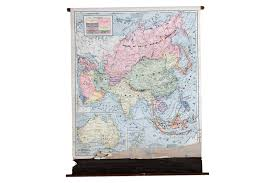 World Map Poster Large Pull Down Maps Wall Charts