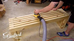 how to build a modern outdoor bench u2014 crafted workshop