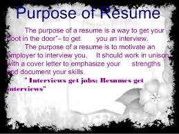 Wat Is A Resume What Is Resume Purpose And Objective Of Resume And Type Of Resume