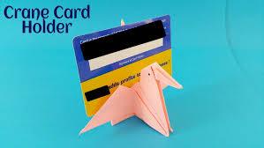 crane card holder diy origami tutorial by paper folds
