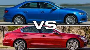 audi a4 vs lexus is350 audi a4 vs infiniti q50s road test