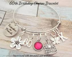 gift for a woman turning 60 60th charm bracelet etsy
