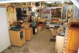 one car garage woodshop layout modern affordable best garage