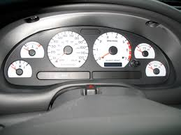 1999 mustang accessories 1999 2004 mustang 3 8l white kit w 120mph speedo