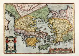 Asia Minor Map by Hellas Graecia Sophiani Ortelius Greece Peloponnese Aegean