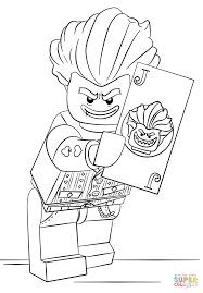 lego arkham asylum joker coloring page free printable coloring pages