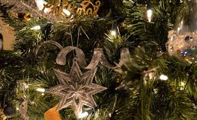 tree decorations gold and silver downton
