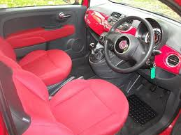 fiat 500 1 2 pop 3dr red 2008 low insurance with top spec